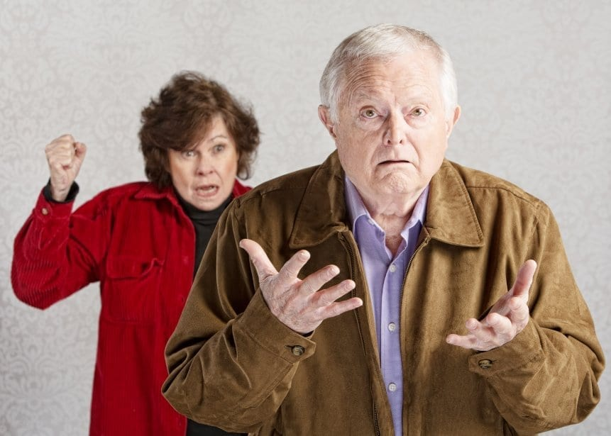 man and woman in argument
