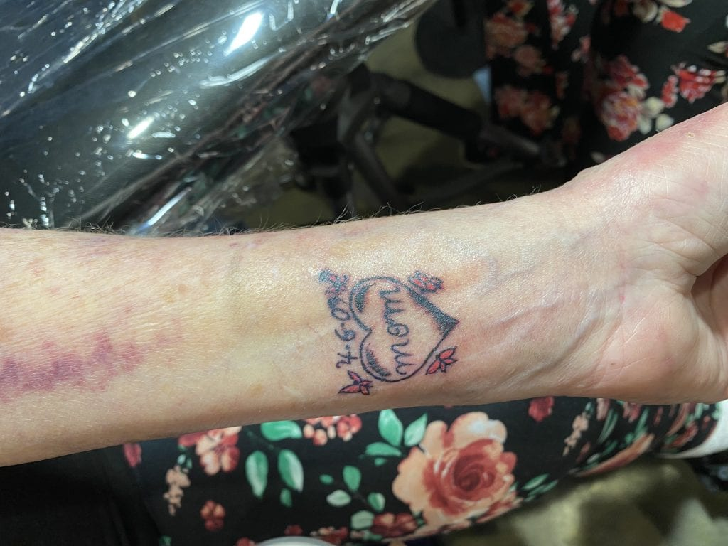 Her tattoo and final wish